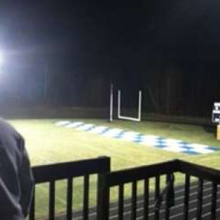 football field painted by home decorators