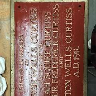 refurbished plaque by home decorators