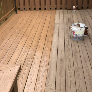 refurbished wooden deck by home decorators